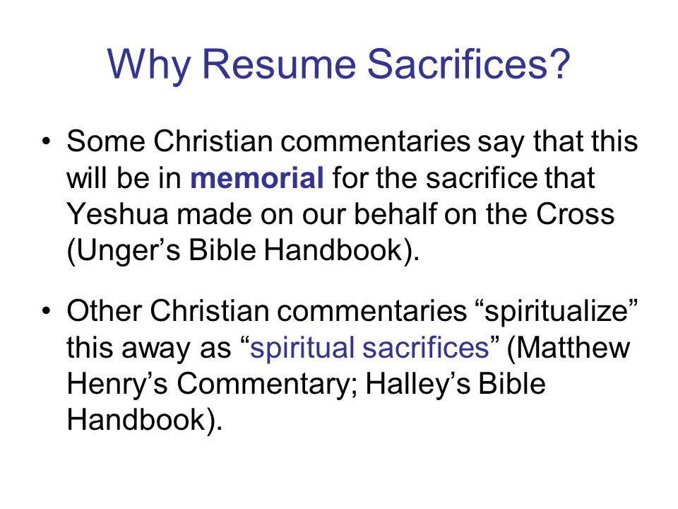 Why Resume Sacrifices