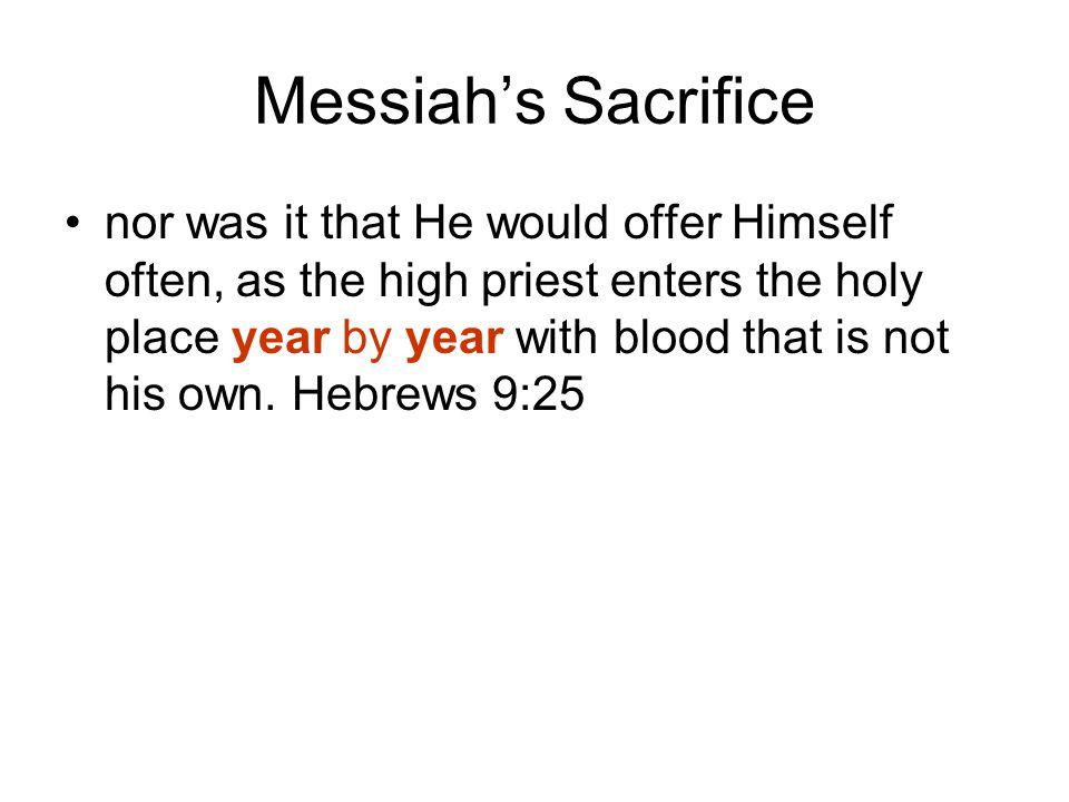 Messiah's Sacrifice