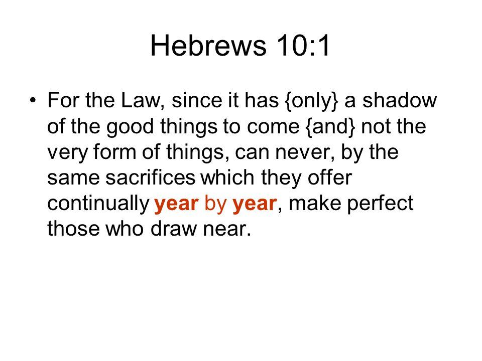 Hebrews 10:1