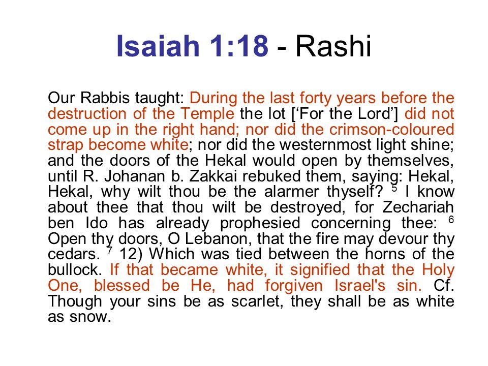 Isaiah 1:18 - Rashi
