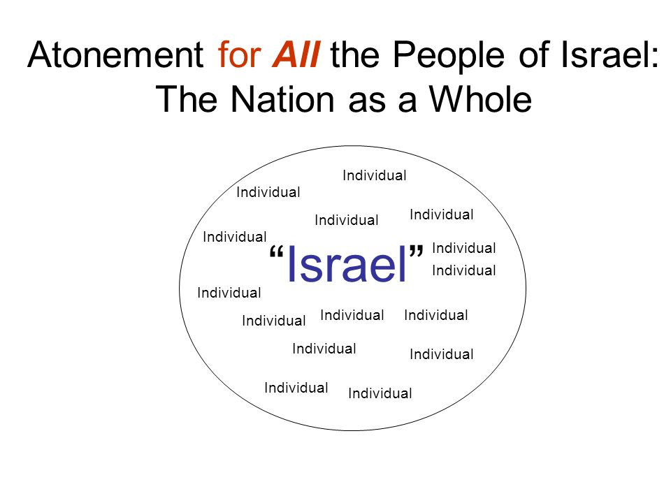 Atonement for All the People of Israel: The Nation as a Whole