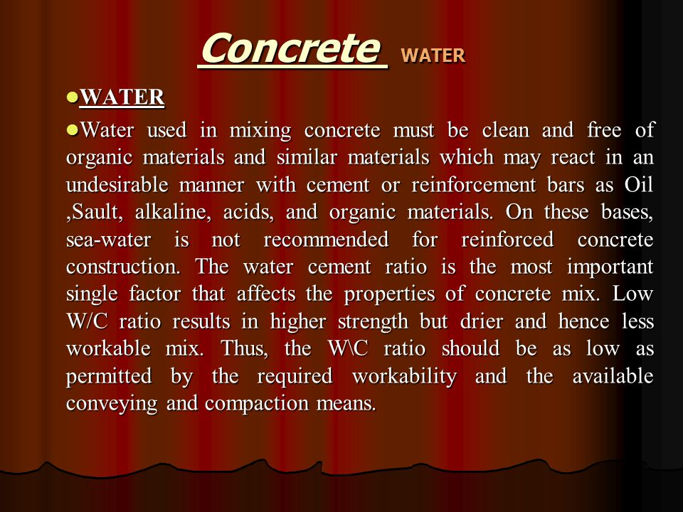 Concrete WATER WATER.