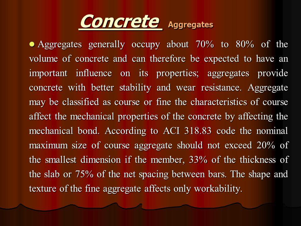 Concrete Aggregates