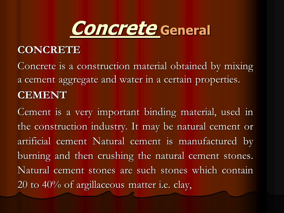Concrete General CONCRETE