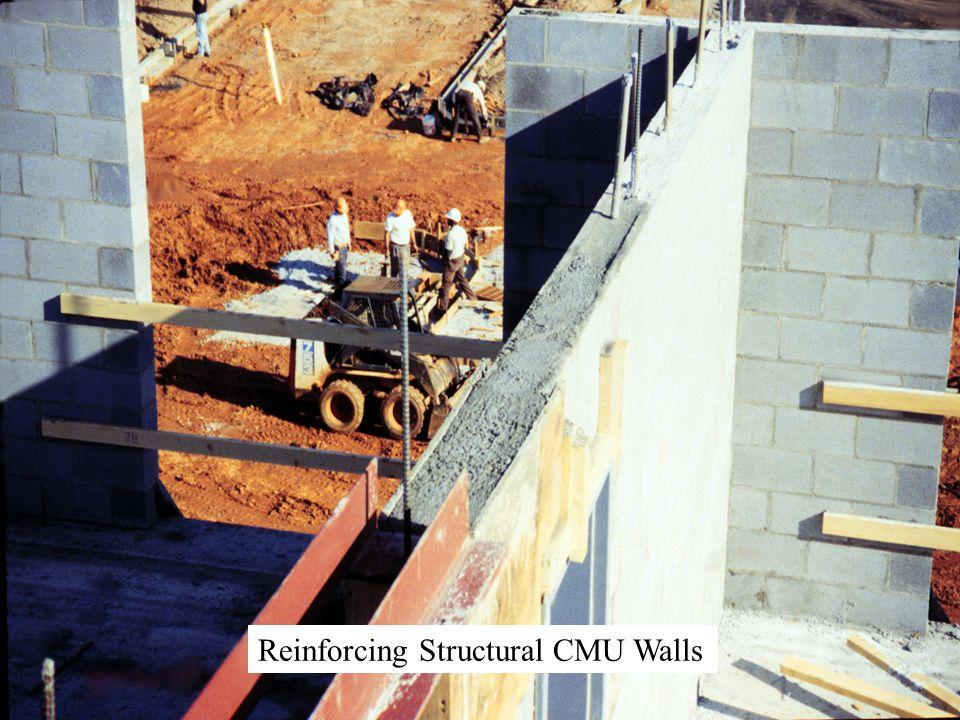 Reinforcing Structural CMU Walls