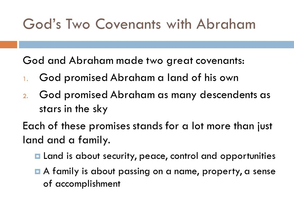 God's Two Covenants with Abraham