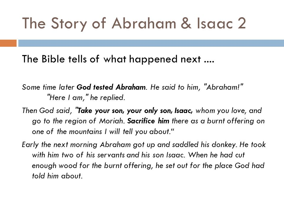 The Story of Abraham & Isaac 2
