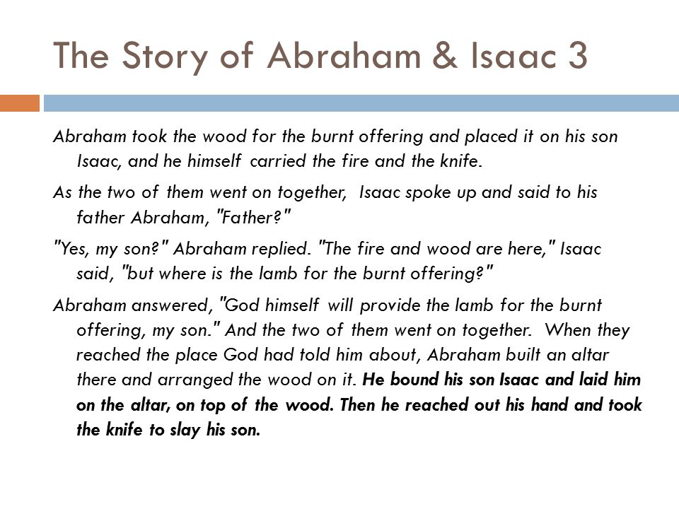The Story of Abraham & Isaac 3