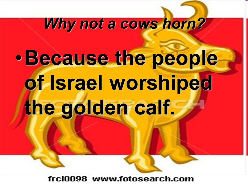 Because the people of Israel worshiped the golden calf.