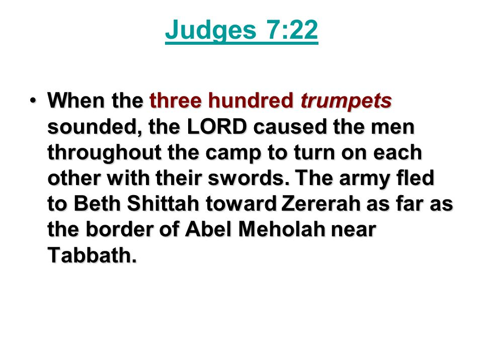 Judges 7:22