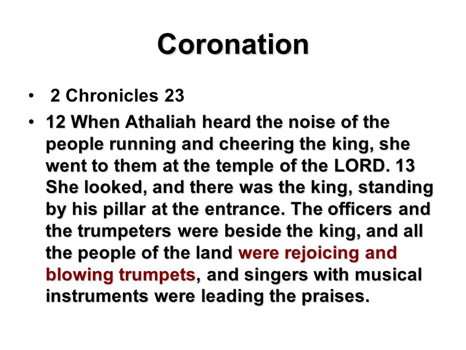 Coronation 2 Chronicles 23