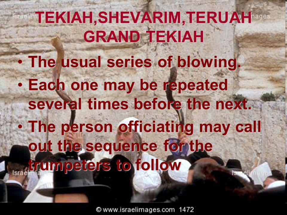 TEKIAH,SHEVARIM,TERUAH GRAND TEKIAH