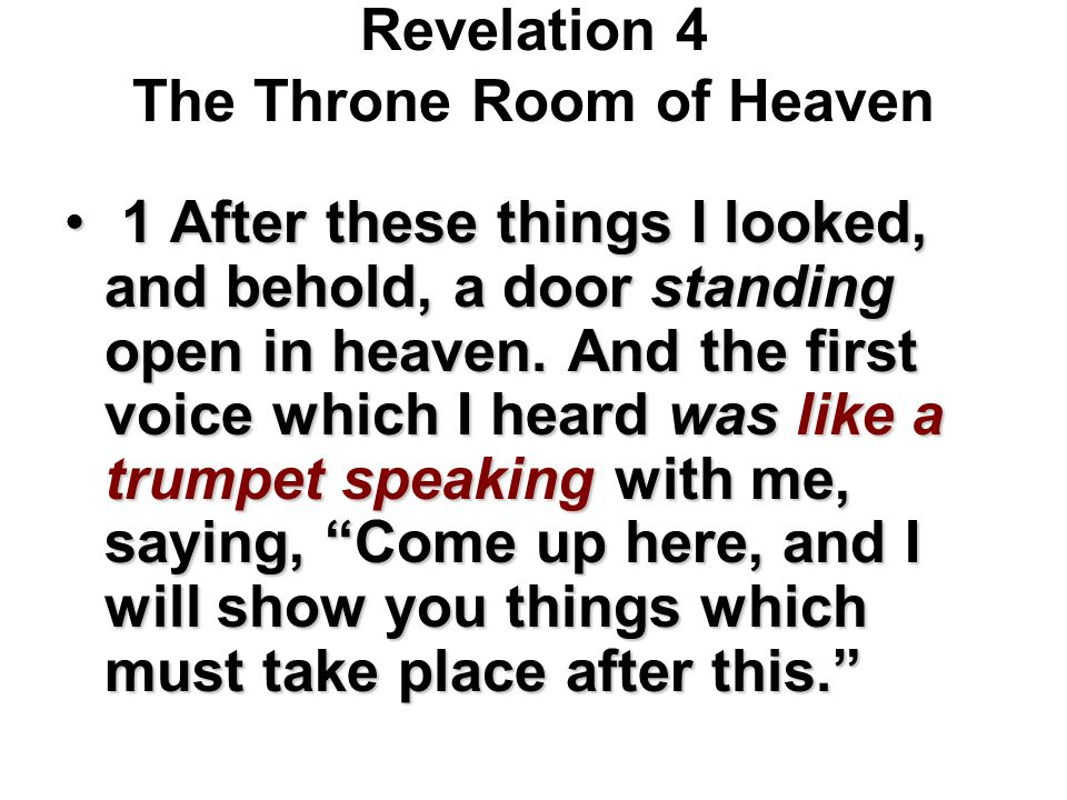 Revelation 4 The Throne Room of Heaven