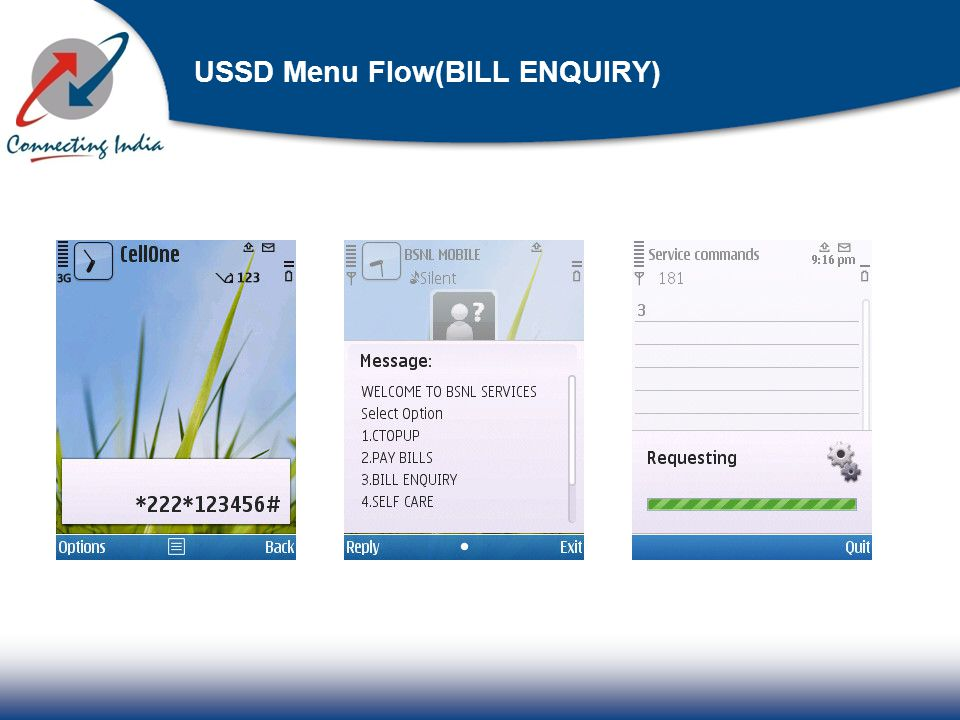 USSD Menu Flow(BILL ENQUIRY)