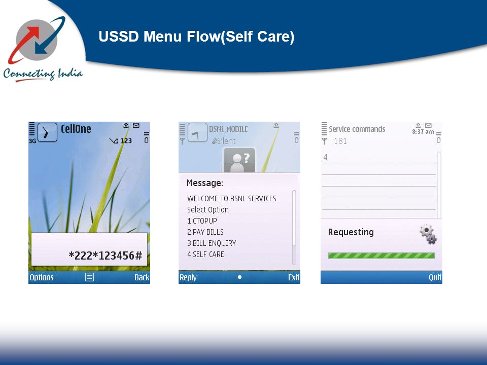 USSD Menu Flow(Self Care)
