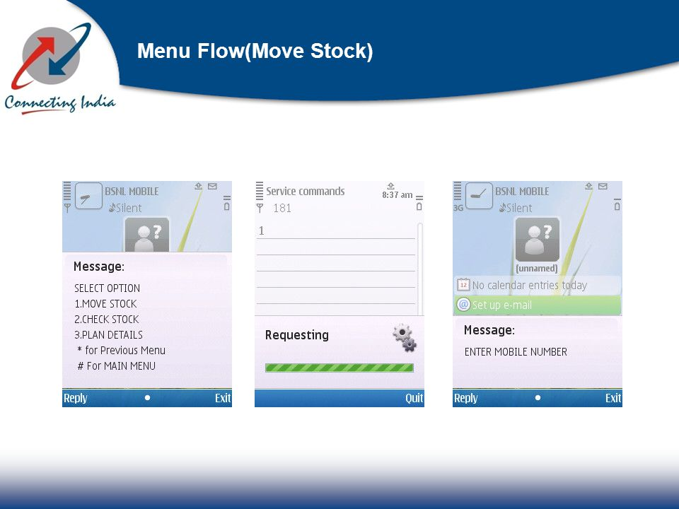 Menu Flow(Move Stock)