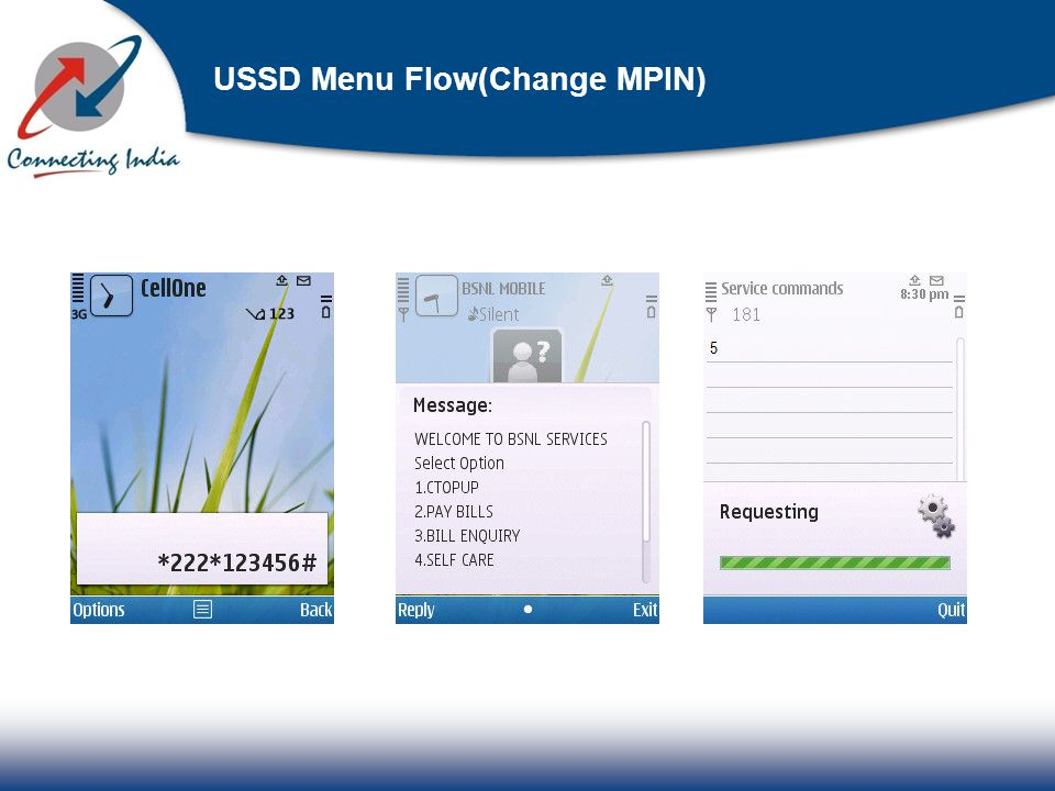 USSD Menu Flow(Change MPIN)