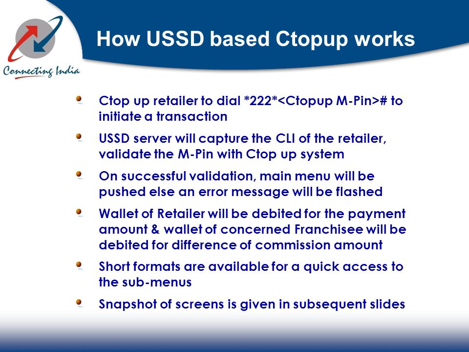 How USSD based Ctopup works