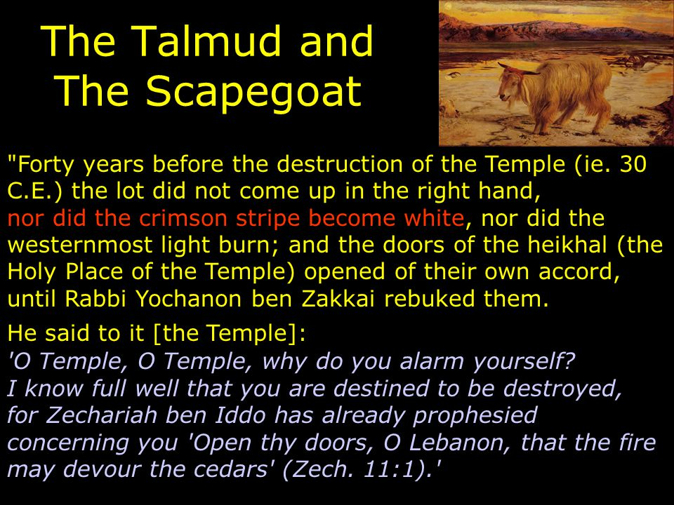 The Talmud and The Scapegoat