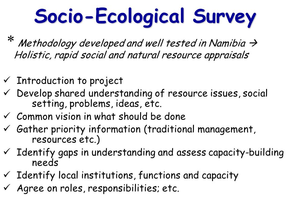 Socio-Ecological Survey