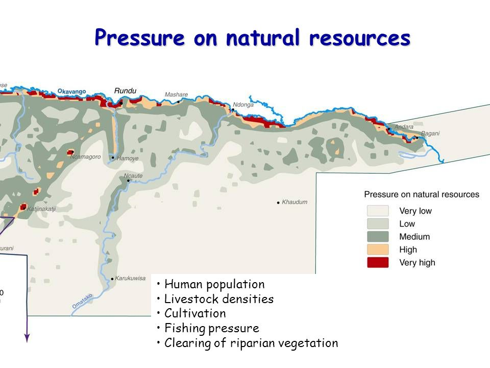 Pressure on natural resources