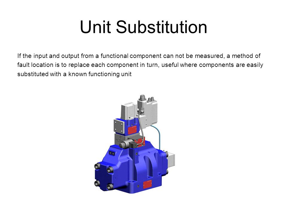 Unit Substitution If the input and output from a functional component can not be measured, a method of.