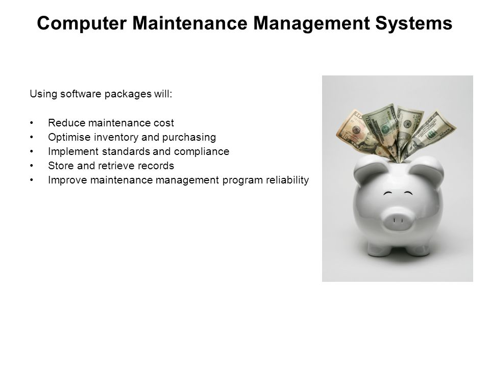 Computer Maintenance Management Systems