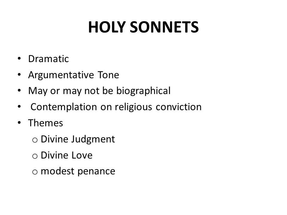 a comparison of john donnes the canonization and holy sonnet 14 John donne's holy sonnets (17 & 18)  the holy sonnet 17 was written following the death of  holy sonnet no 18 expresses john donne's lifelong.