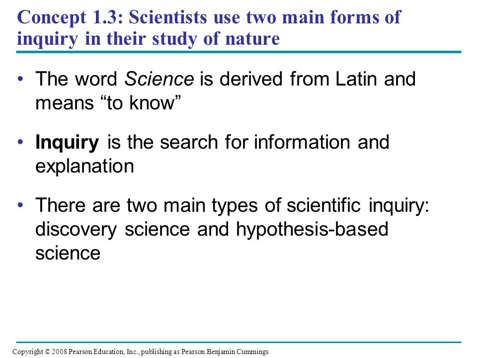 The word Science is derived from Latin and means to know