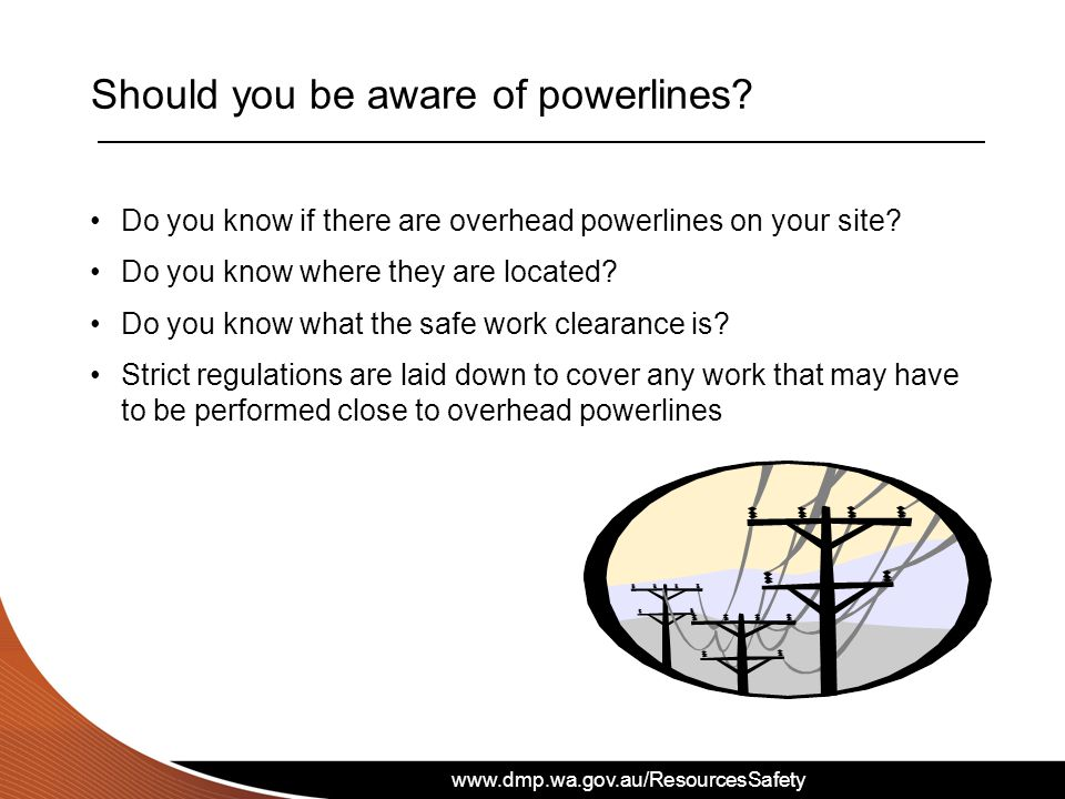 Should you be aware of powerlines
