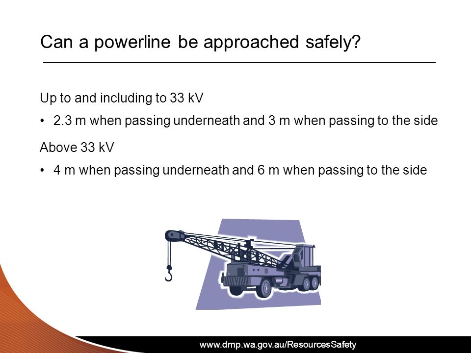 Can a powerline be approached safely