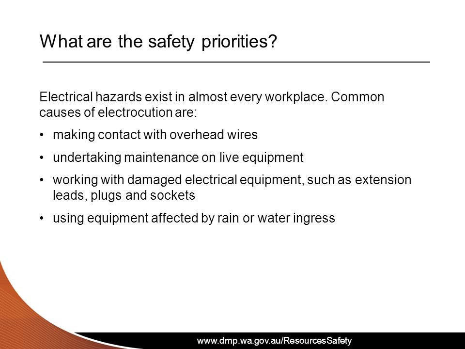What are the safety priorities