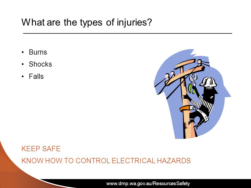 What are the types of injuries