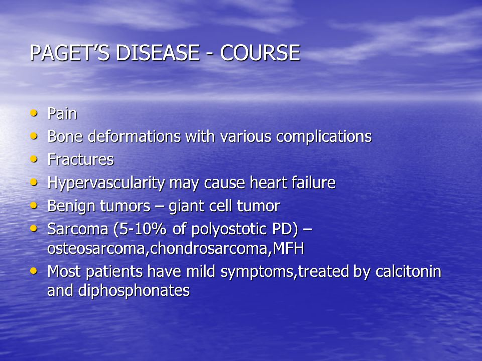 PAGET'S DISEASE - COURSE
