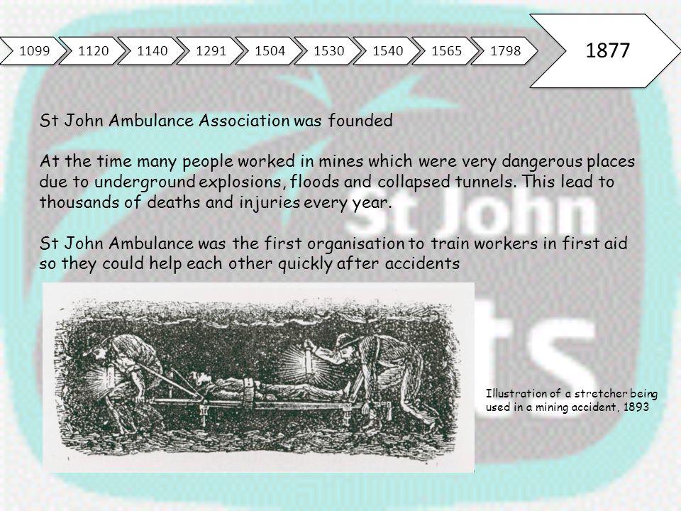1877 St John Ambulance Association was founded