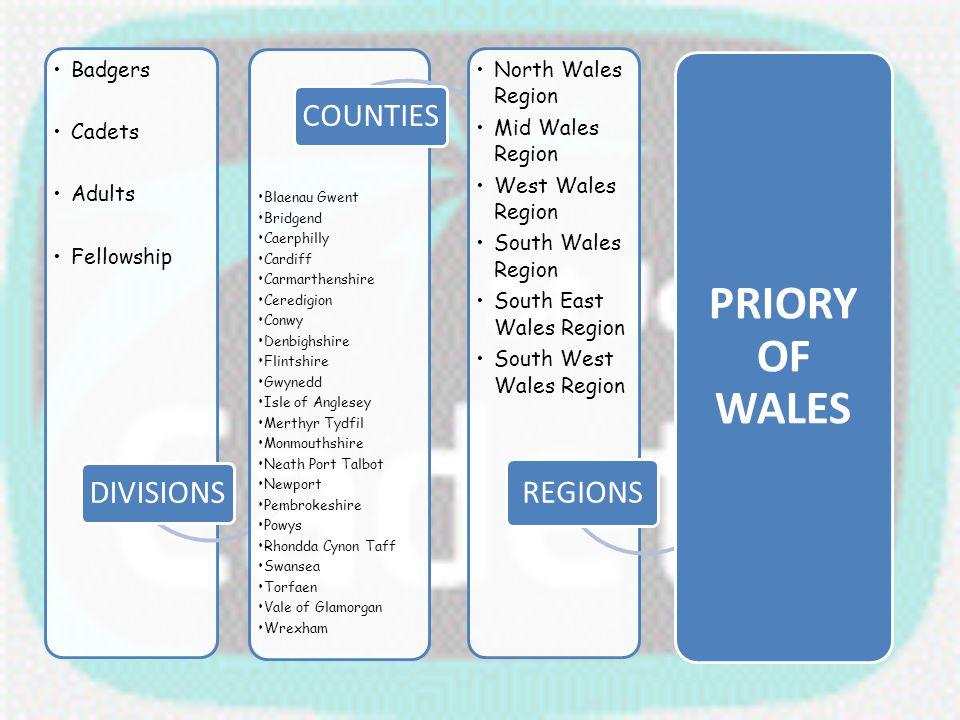 PRIORY OF WALES Blaenau Gwent Bridgend Caerphilly Cardiff