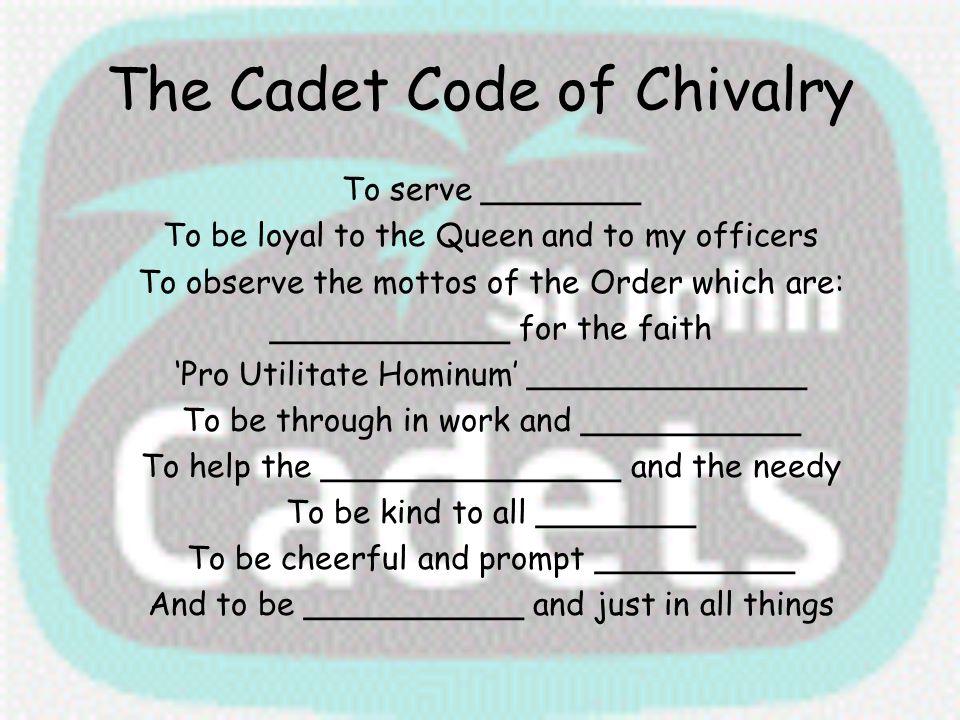 The Cadet Code of Chivalry