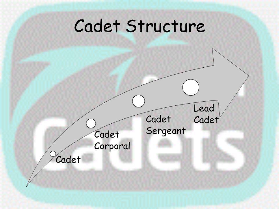 Cadet Structure Cadet Cadet Corporal Cadet Sergeant Lead Cadet
