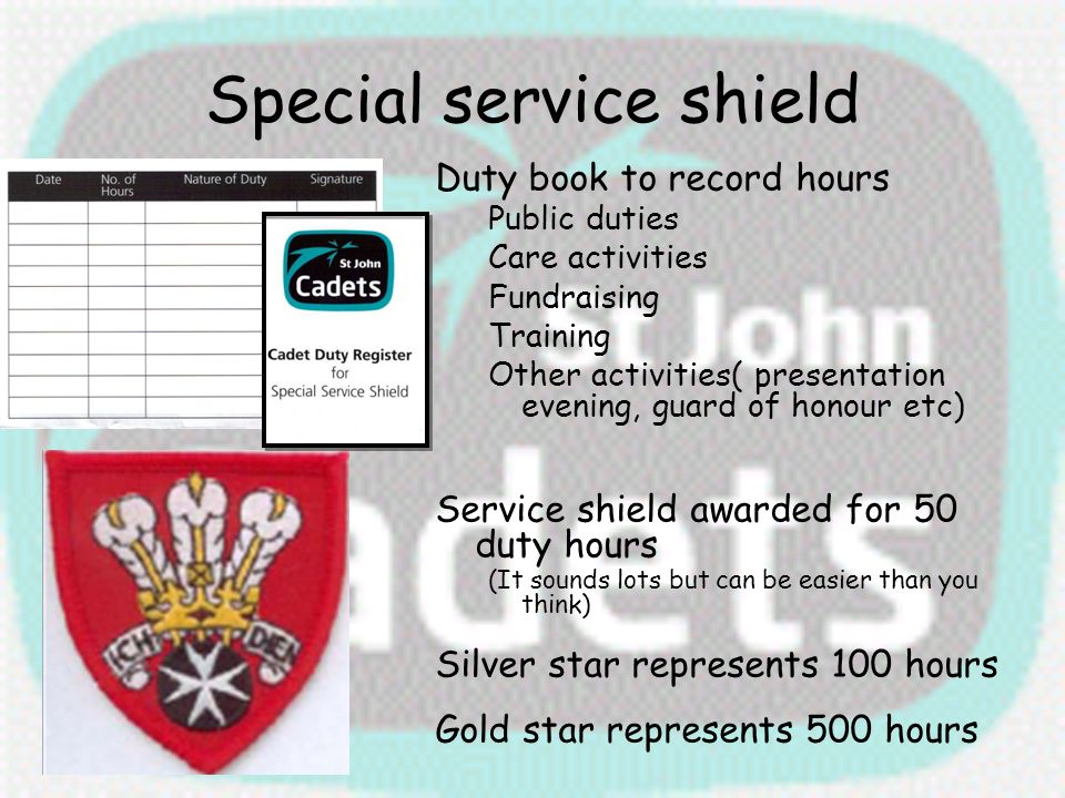 Special service shield