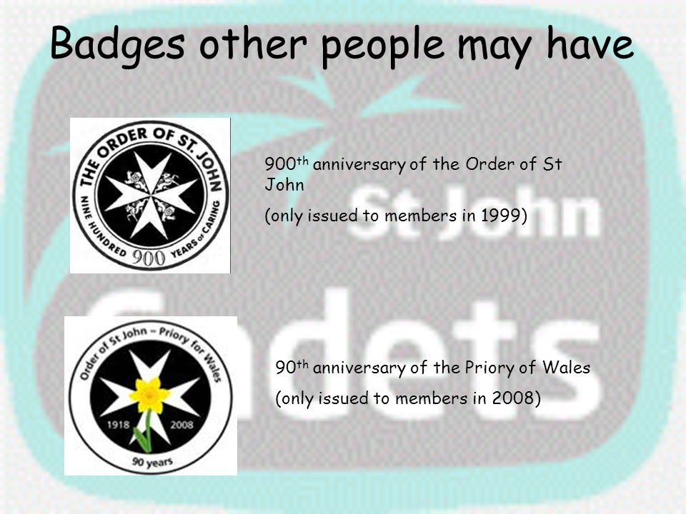 Badges other people may have