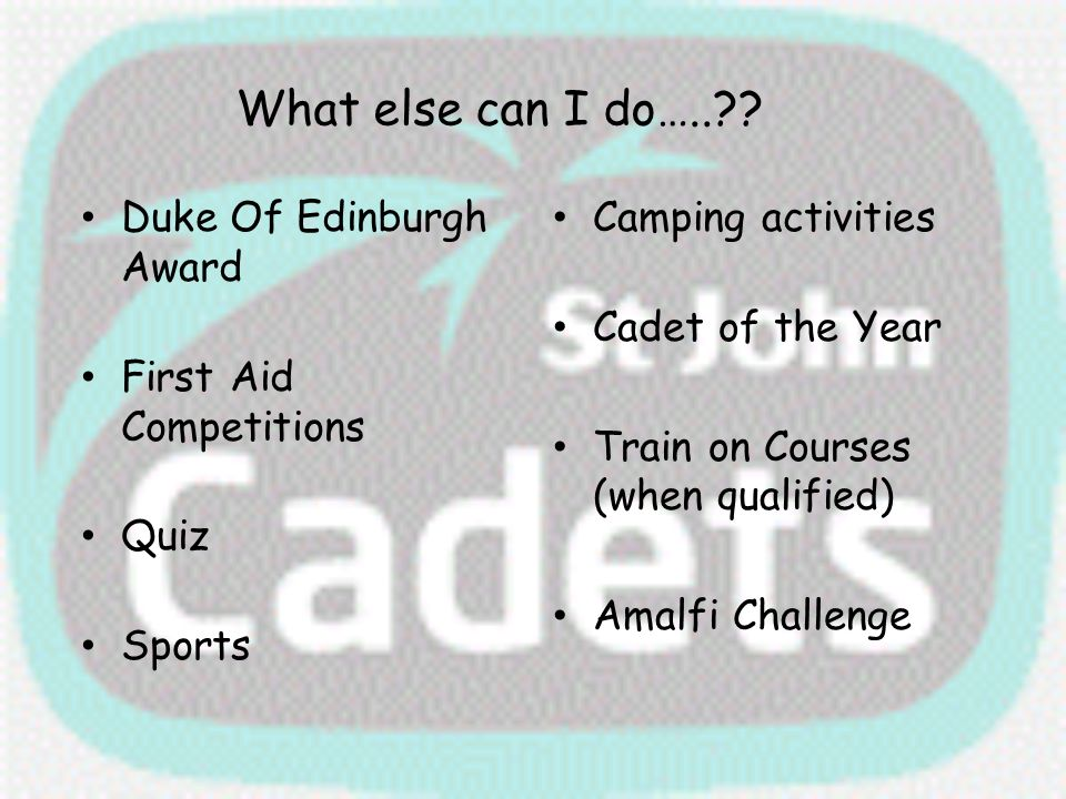 What else can I do….. Duke Of Edinburgh Award First Aid Competitions