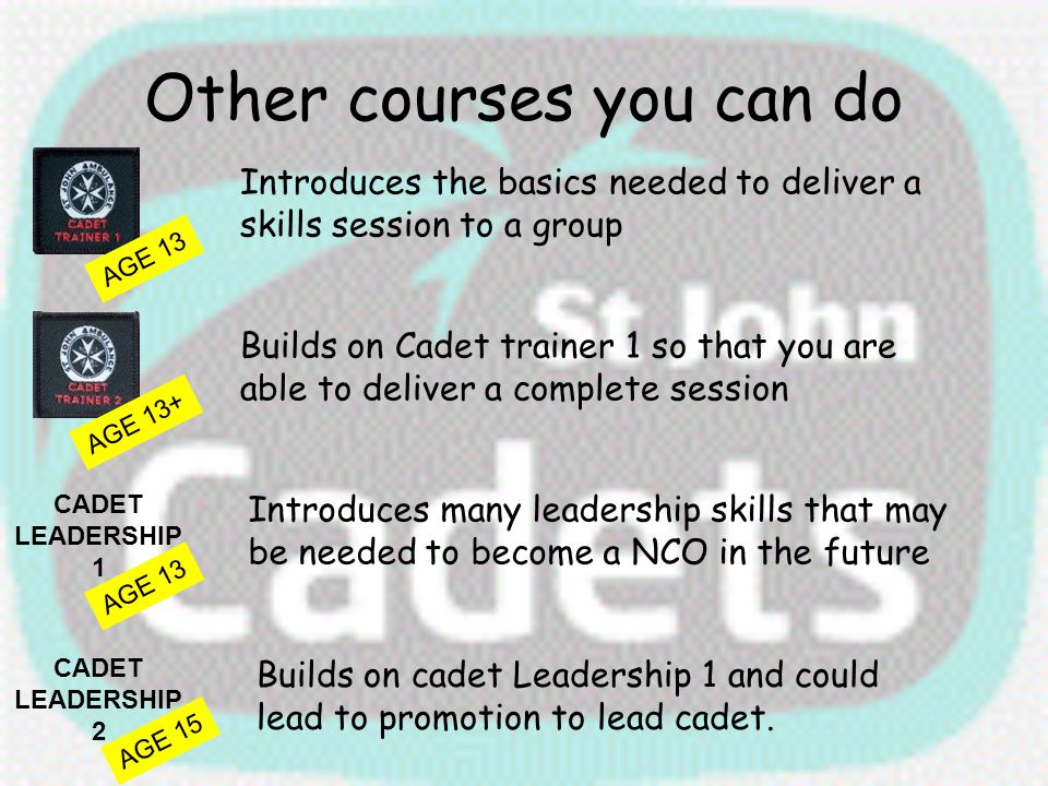 Other courses you can do
