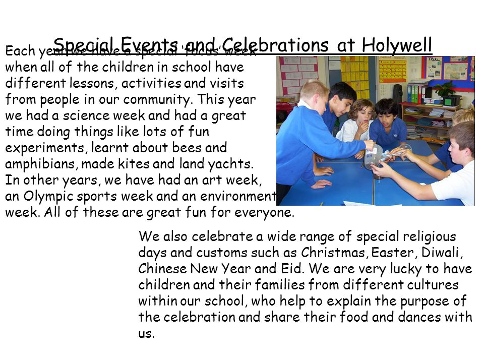 Special Events and Celebrations at Holywell