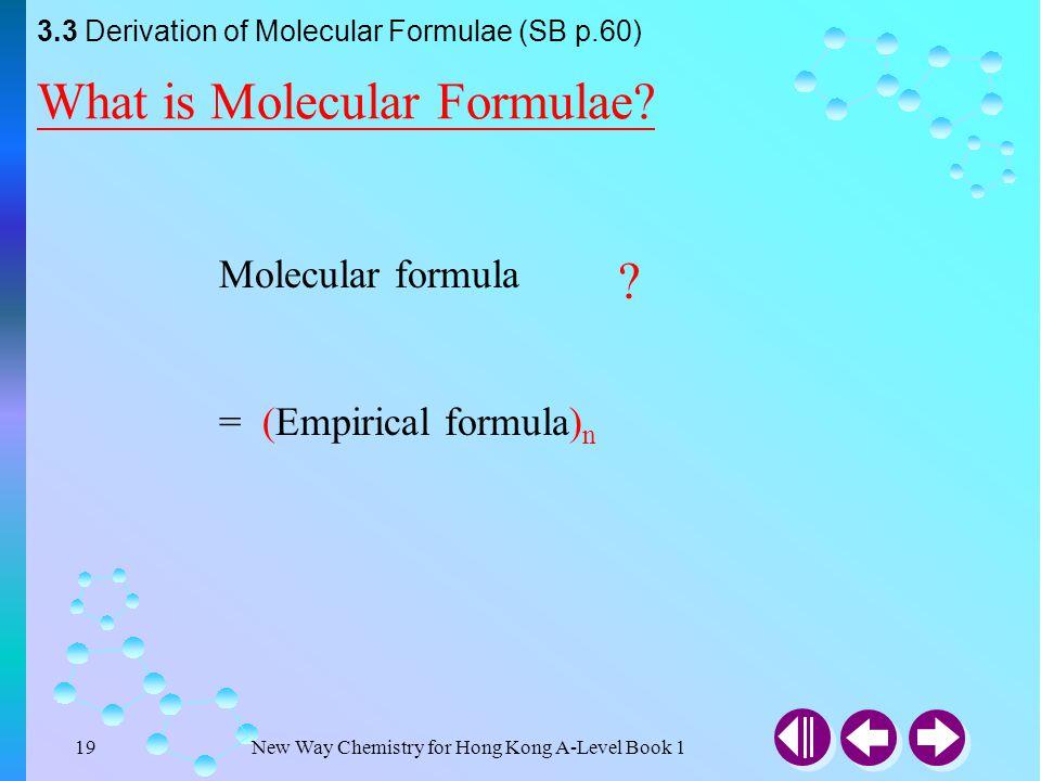 What is Molecular Formulae