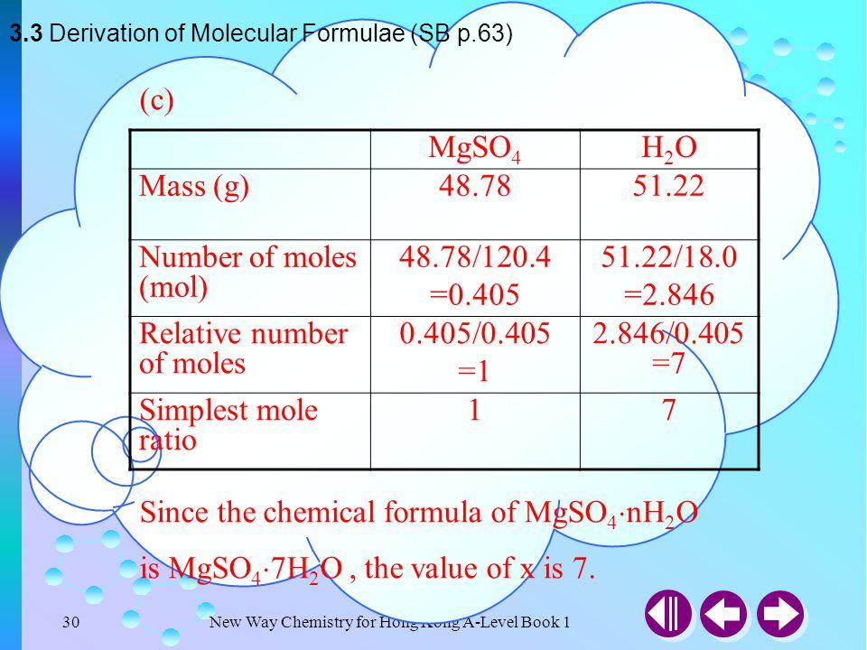 Since the chemical formula of MgSO4nH2O