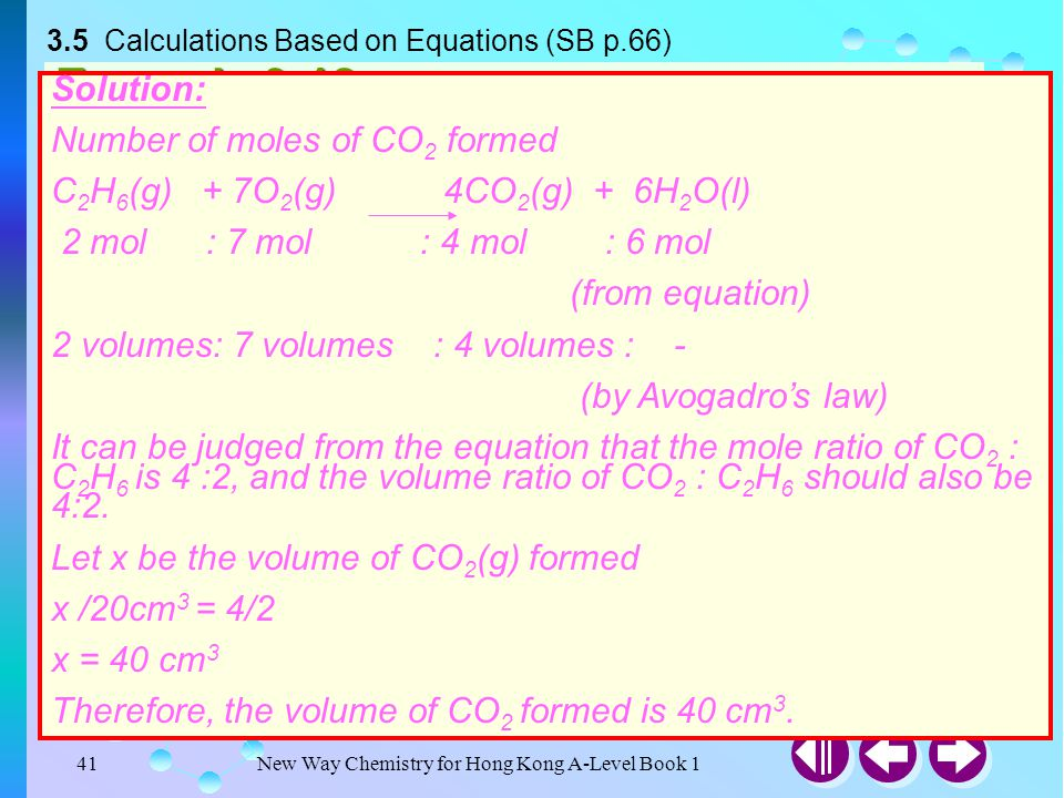 3.5 Calculations Based on Equations (SB p.66)