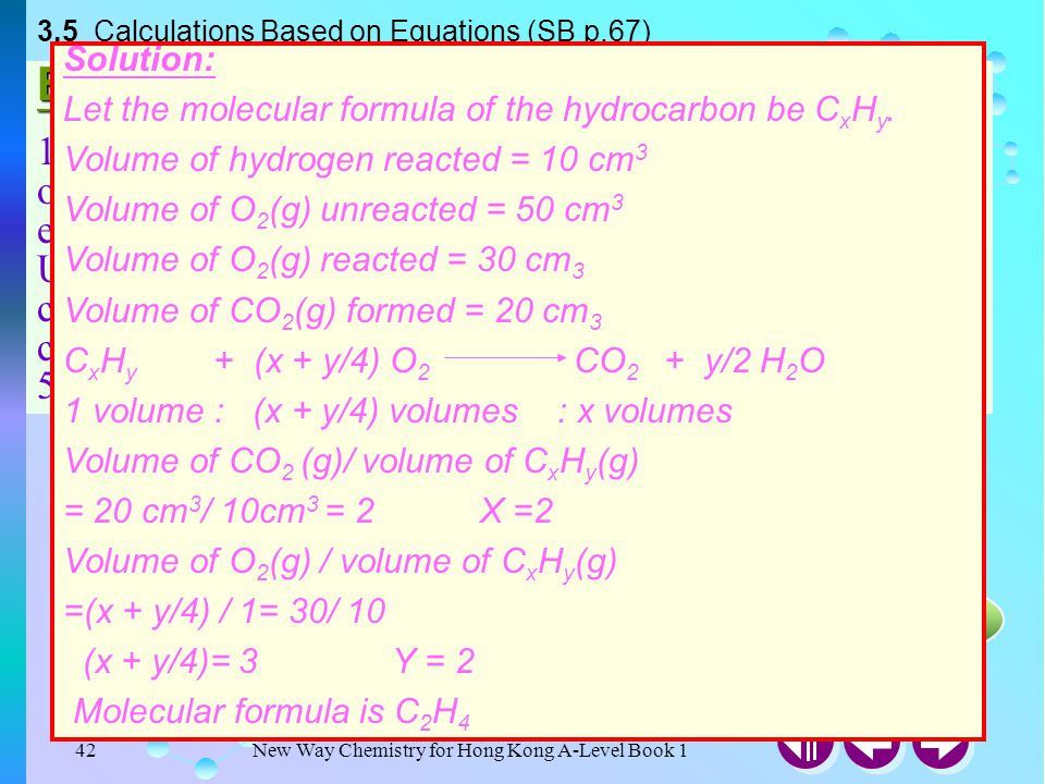 3.5 Calculations Based on Equations (SB p.67)