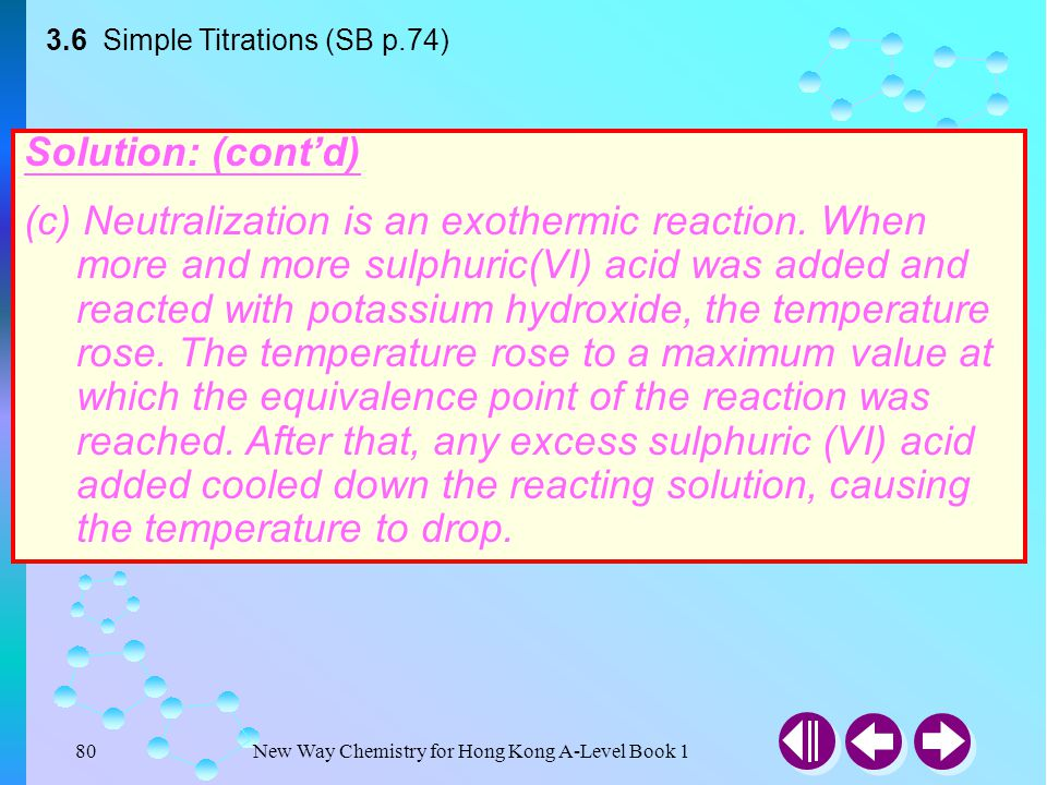 3.6 Simple Titrations (SB p.74)