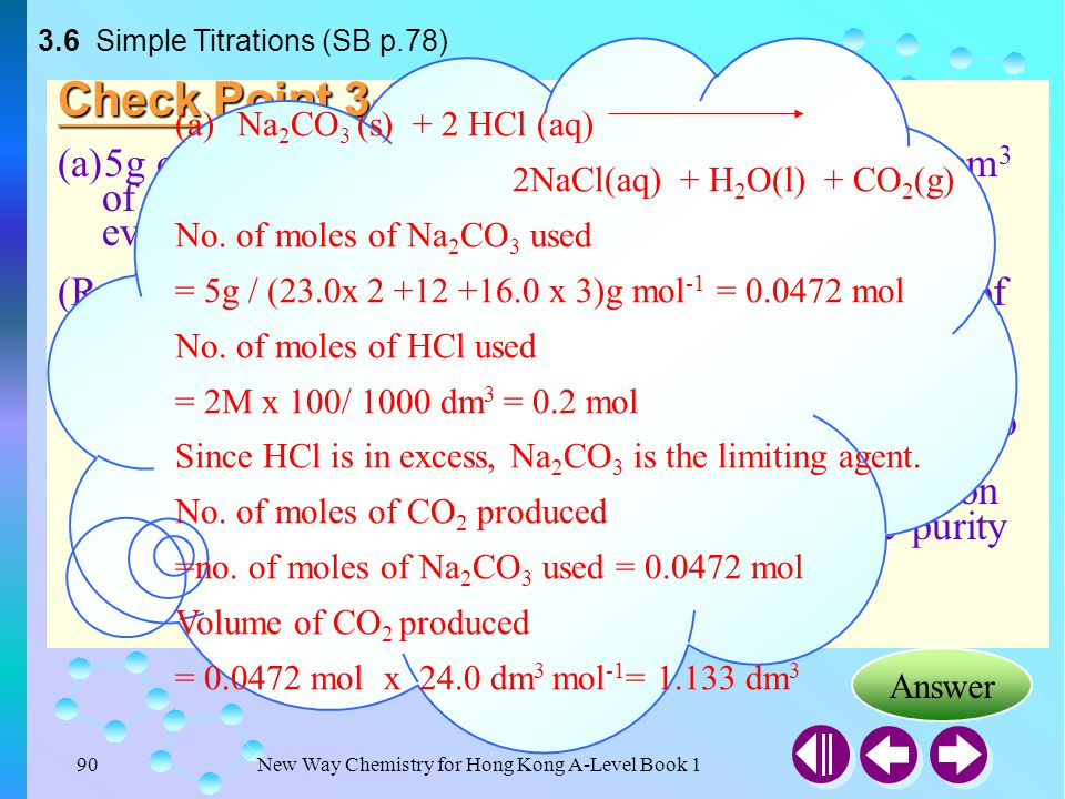 3.6 Simple Titrations (SB p.78)