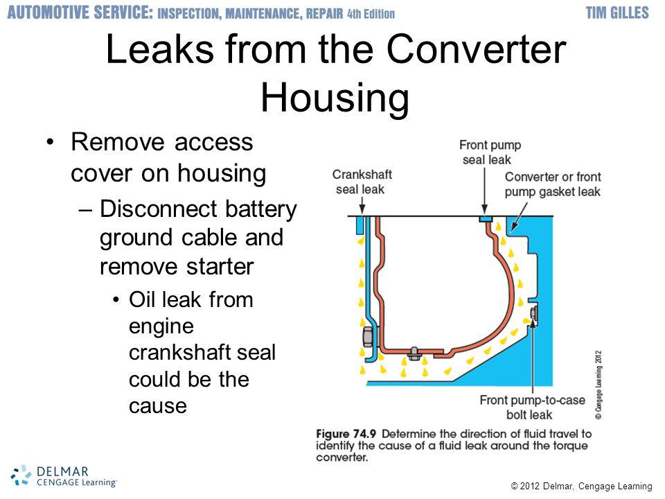 Leaks from the Converter Housing